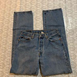 Men's Levi's 501 Button Fly Straight Leg.